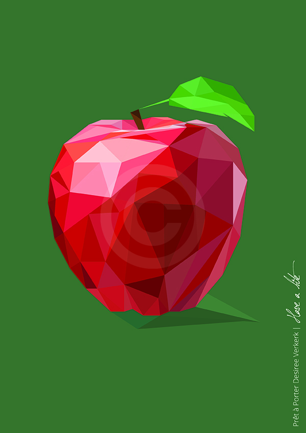 illustration geometric apple